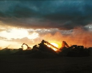 Crushing at Sunset