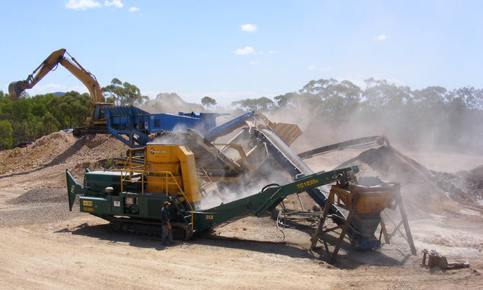 Crushing at Eden Lassie Creek Quarry